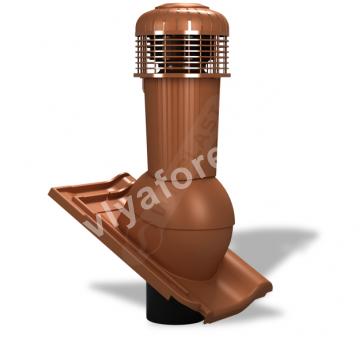Вентиляционный выход D 125/110 не утепленный с вентилятором Wirplast К-99