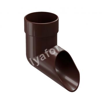 Отвод трубы сливной Docke LUX (белый, коричневый, графит)