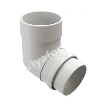 Колено трубы Docke LUX (белый, коричневый графит)