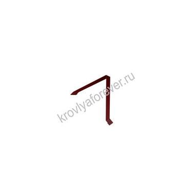 Планка конька односкатной кровли 160х160