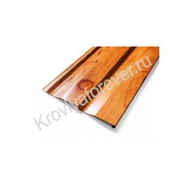 Металлический сайдинг корабельная доска Металл-профиль Ecosteel под дерево