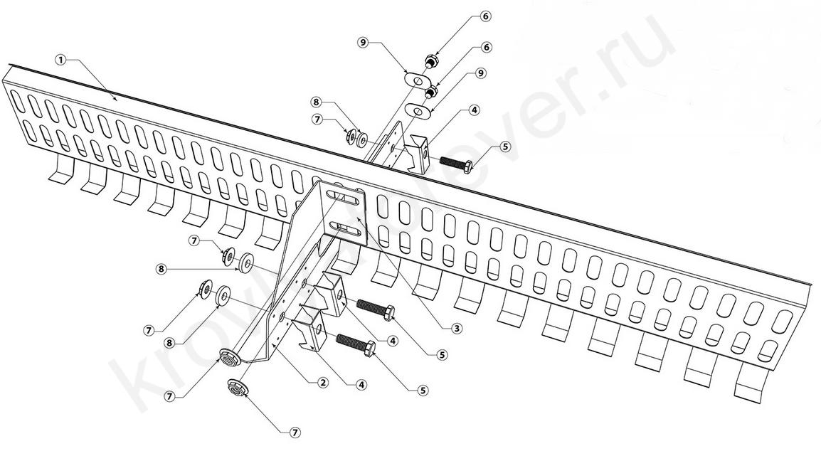 инструкция по монтажу решетчатого снегозадержателя на профнастил