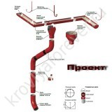 схема установки водосток Проект 185/100