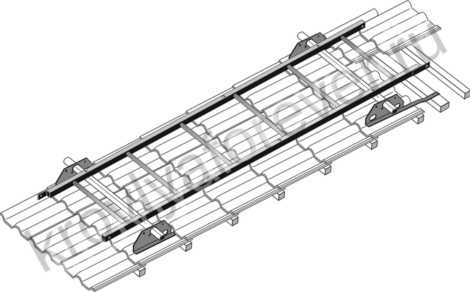 инструкция по установке лестницы на натуральную черепицу
