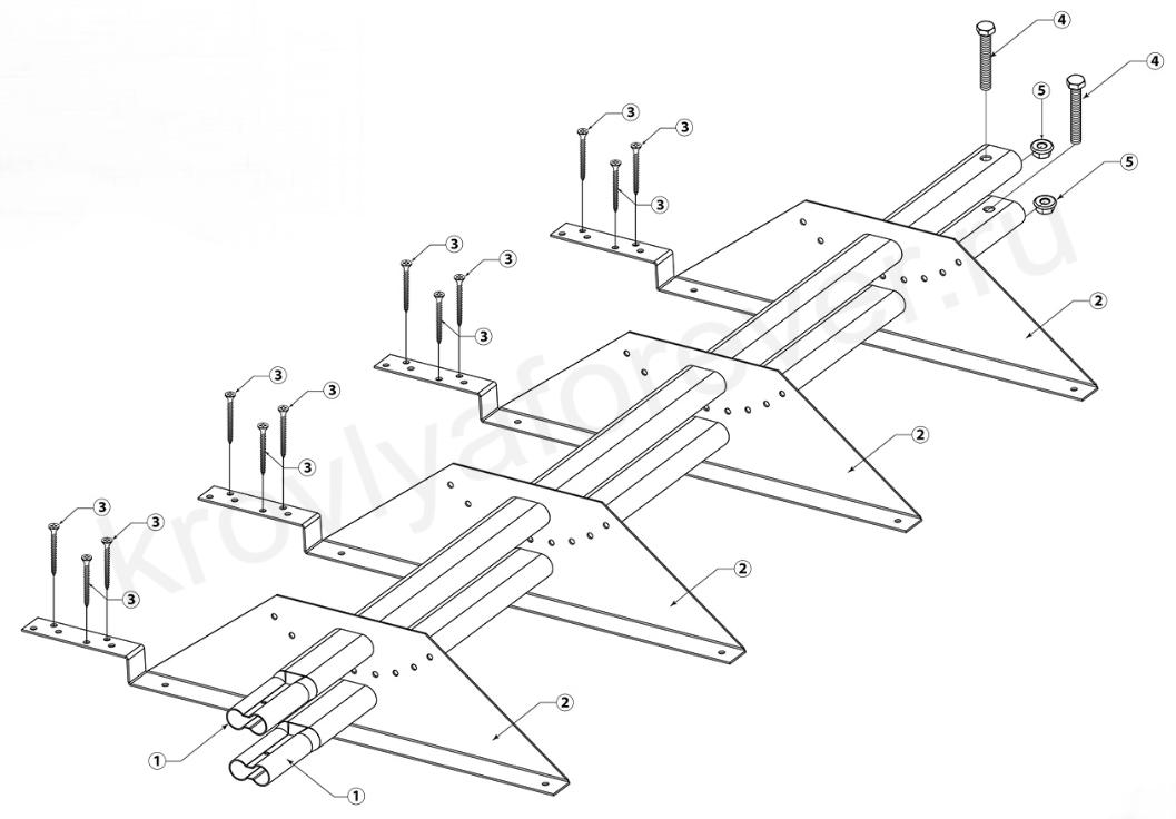 инструкция по установки снегозадержателей на композитную черепицу