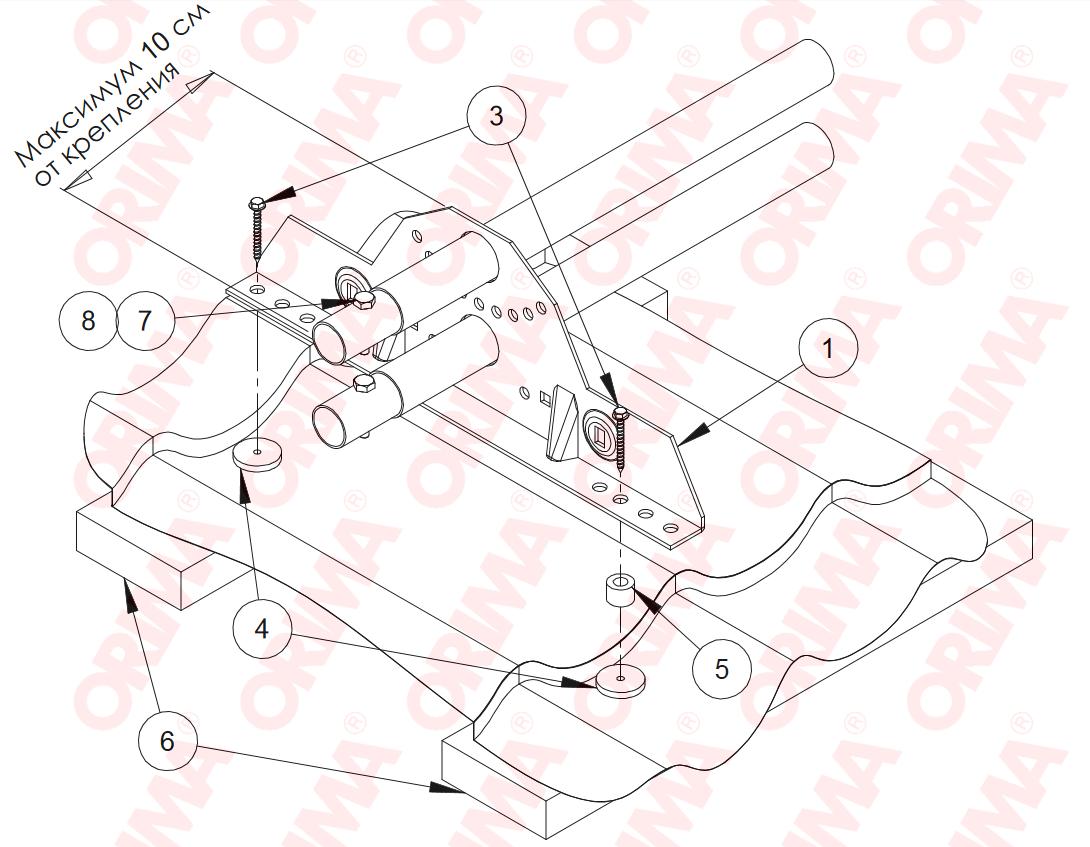 Инструкция по установке медного снегозадержателя на металлочерепицу