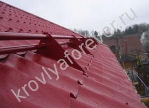 Снегозадержатели на металлочерепицу